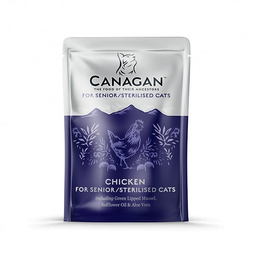 Canagan Cat Pouch Chicken for Senior/Sterilised Cats 8x85g