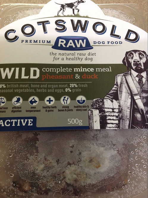 Cotswold Raw Wild Pheasant and Duck Active 500g