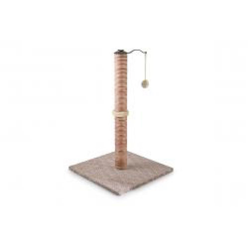 "Deluxe Cat Scratching Post 18"" Chocolate & Cream Ancol Premo"