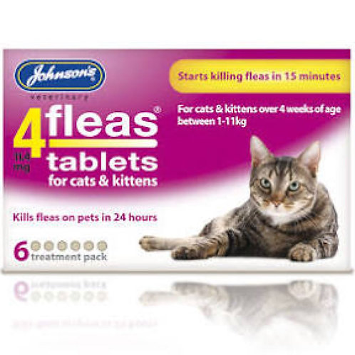 Johnson's Flea Tablets for Cats and Kittens 6 pack