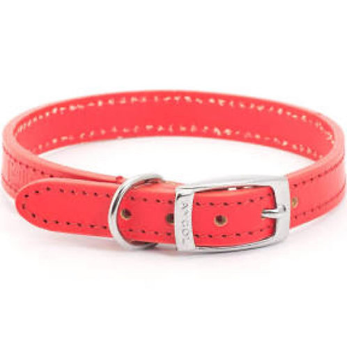 Ancol Heritage Red Leather Collar 28-36cm