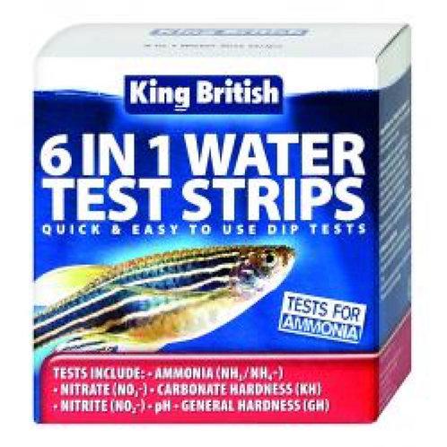 King British 6 in 1 Test Strips