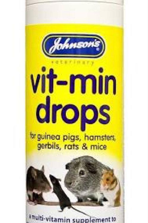 Johnsons Hamster Gerbil Vit-min Drops 100ml