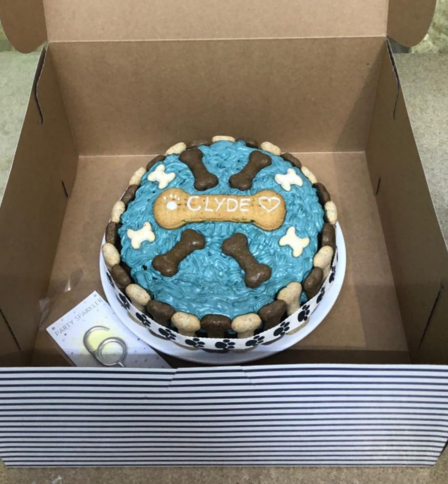 Doggie birthday cakes made to order