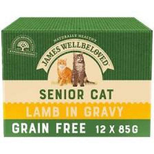 James Wellbeloved Lamb Grain Free Pouches for Seniors