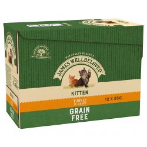 James Wellbeloved Kitten Turkey 12x85g Grain Free Pouches