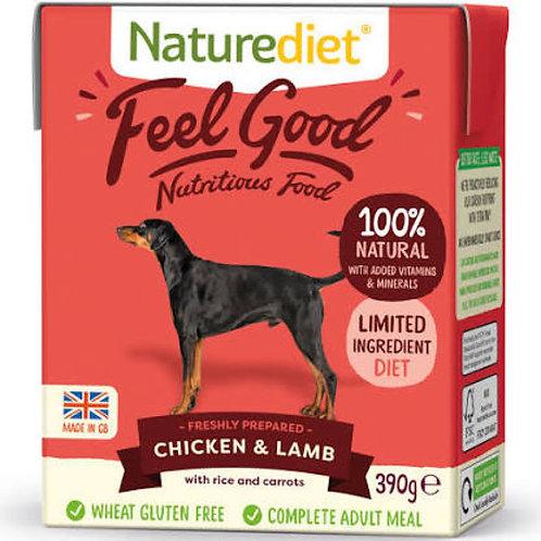 Naturediet Feel Good Chicken & Lamb 390g