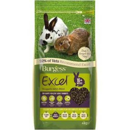 Burgess Excel Adult Rabbit Nuggets 4kg