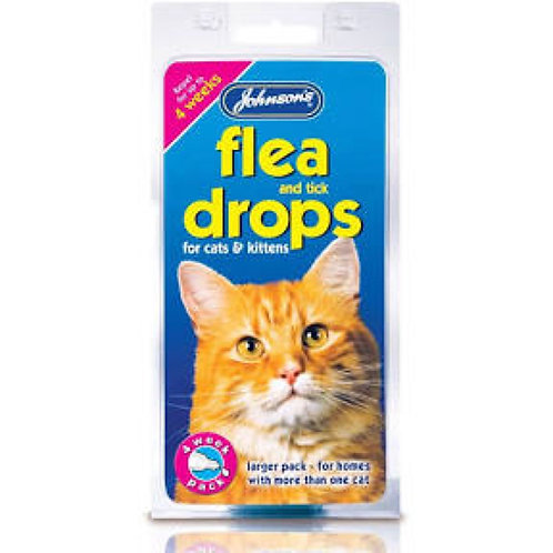 Johnsons Cat Flea Drops - 4 Week