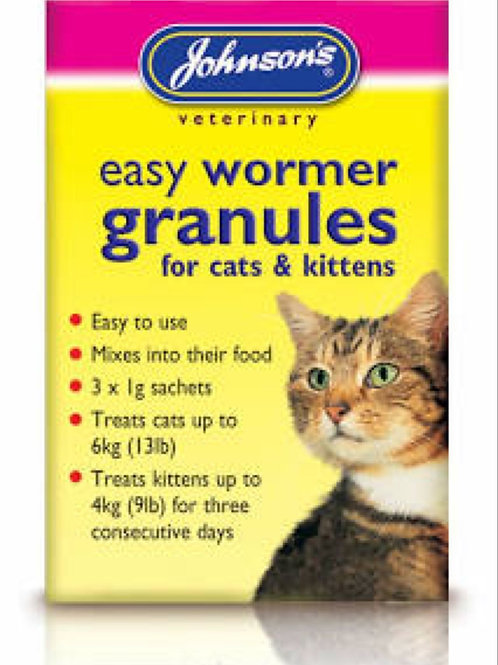 Johnson's Easy Round Wormer Granules for kittens and cats
