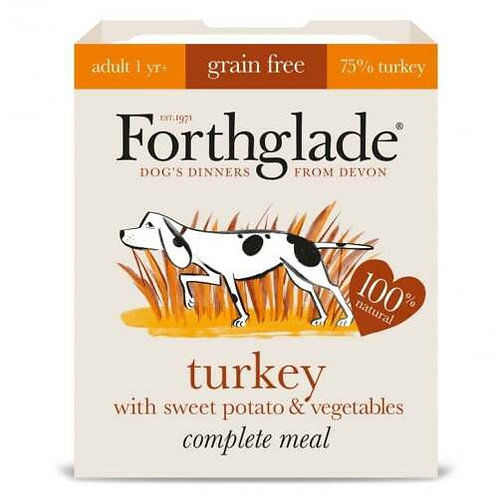 Forthglade Dog Food: Adult Complete Turkey with Sweet Potato 395g