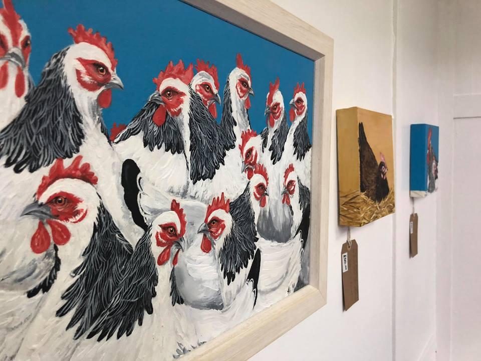 Orginal Artwork, Paintings On Canvas By Contemporary British Artist Alison McQuail