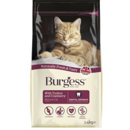Burgess Mature Cat Turkey Cranberry 1.4kg