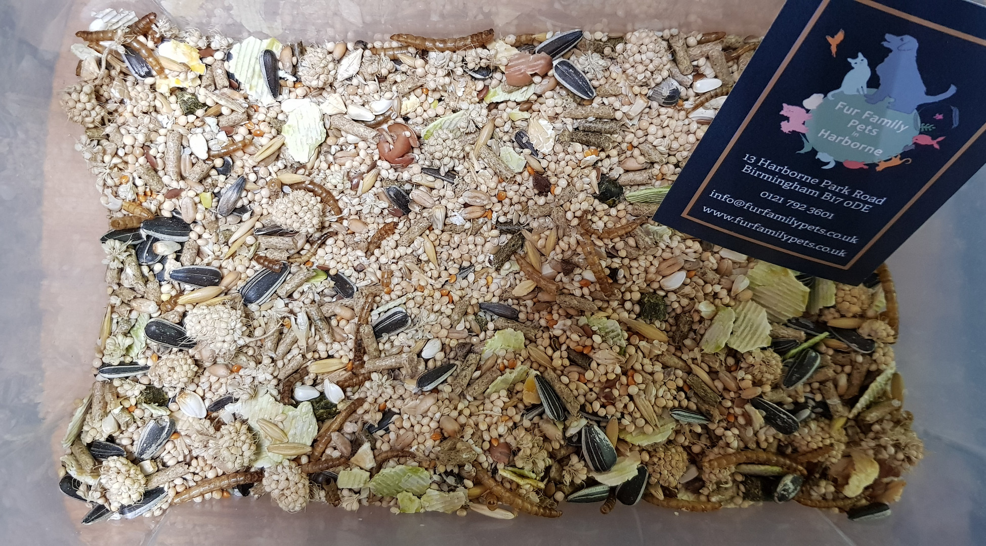 Our own hamster harvest food - same blend as Burgess