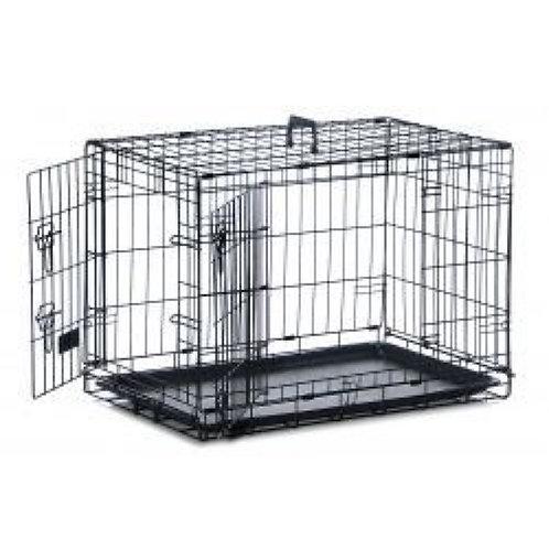 Medium Dog Crate Two Doors 76cm x 48cm x 53cm
