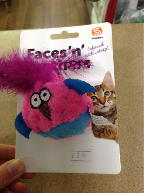 Faces 'n' Feathers Bird Cat Toy