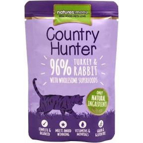 Country Hunter Turkey and Rabbit 85g Pouch for Cats