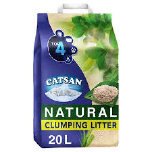 Catsan nat clump litter 20l