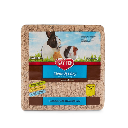 Kaytee Clean & Cozy Natural small pet paper bedding