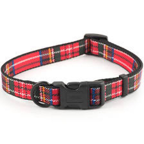 Ancol Red Tartan 20-30cm Collar