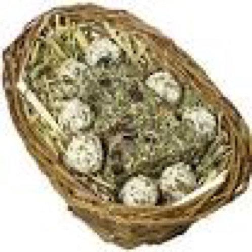 Natural willow Christmas basket