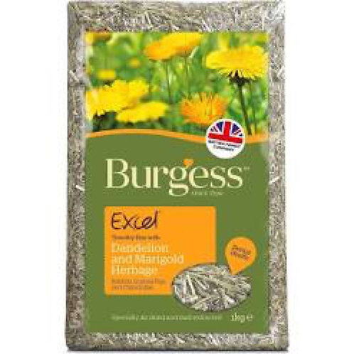 Burgess Excel Feeding Hay Dandelion and Marigold