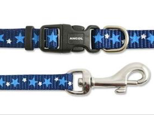 Blue Star Puppy Collar Lead Set