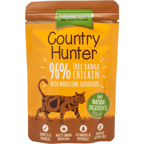 Country Hunter Free Range Chicken 85g Pouch for Cats