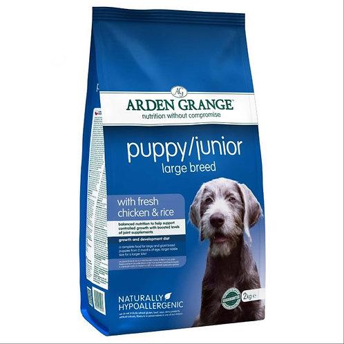 Arden Grange Puppy/Junior Large Breed Dog with Chicken & Rice Dry 2kg