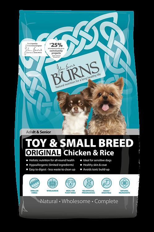 Burns Dog Original Toy/Small breed Chicken & Rice