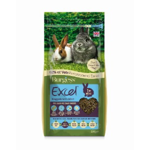 Burgess Junior & Dwarf Rabbit Food Excel Nuggets 2kg