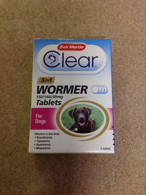 Bob Martin 4 Dog Worming Tablets