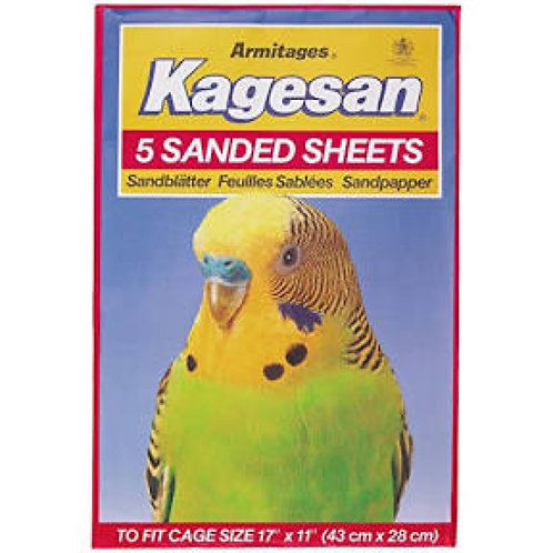 Kagesan Sanded Sheets 43x28cm RED