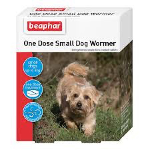 BEAPHER WORM One Dose Small Dog Wormer