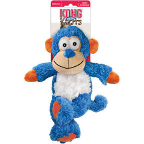 Kong Cross Knots Small Blue Monkey Toy