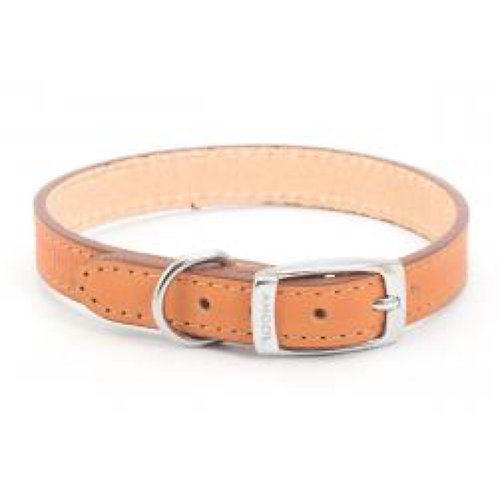 Ancol Collar Leather 20-26cm Tan