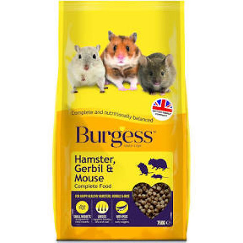 Burgess Hamster, Gerbil and Mouse Food 750g