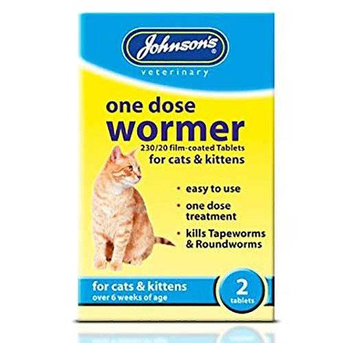 CAT/KITTEN 2-JHNS ONE DOES WORMER