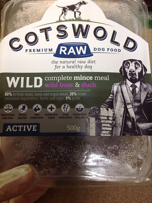 Cotswold Raw Wild Boar and Duck Active 500g