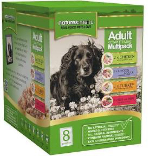 natures:menu Adult Multipack 8x300g Pouches