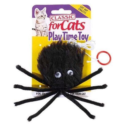Classic Black Spider Cat Toy