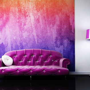 Pink Arty Chic Sitting Room