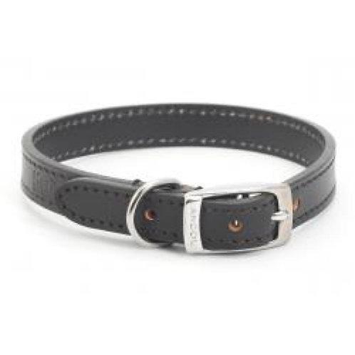Ancol Collar Leather 20-26cm Black