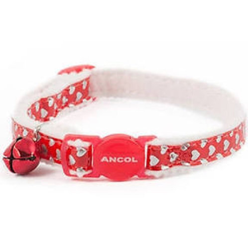 Cat Ancol Reflective Hearts Safety Collar