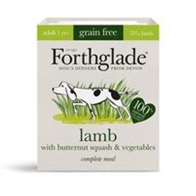 Forthglade Grain Free Lamb & Vegetables Complete Adult Dog Food 395g Tray