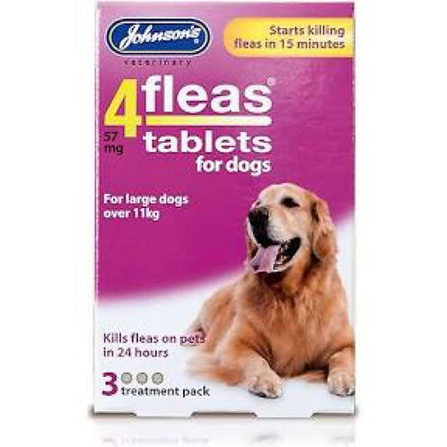 Johnson's 4 Flea Tablets for Large Dogs 3 treatment pack