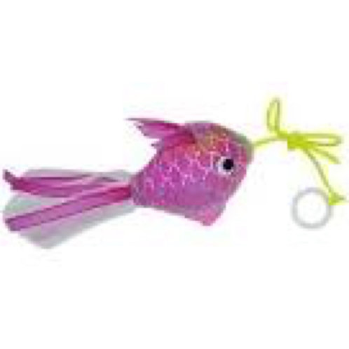 Pink Mermaid Goldfish Cat Toy