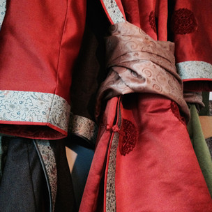 Mongolian silk 'deel' coat