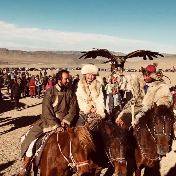 Mongolian cashmere 'deel' coat