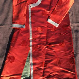 Mongolian Silk 'deel' robe